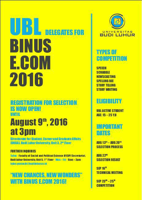 English Competition BINUS Ecom