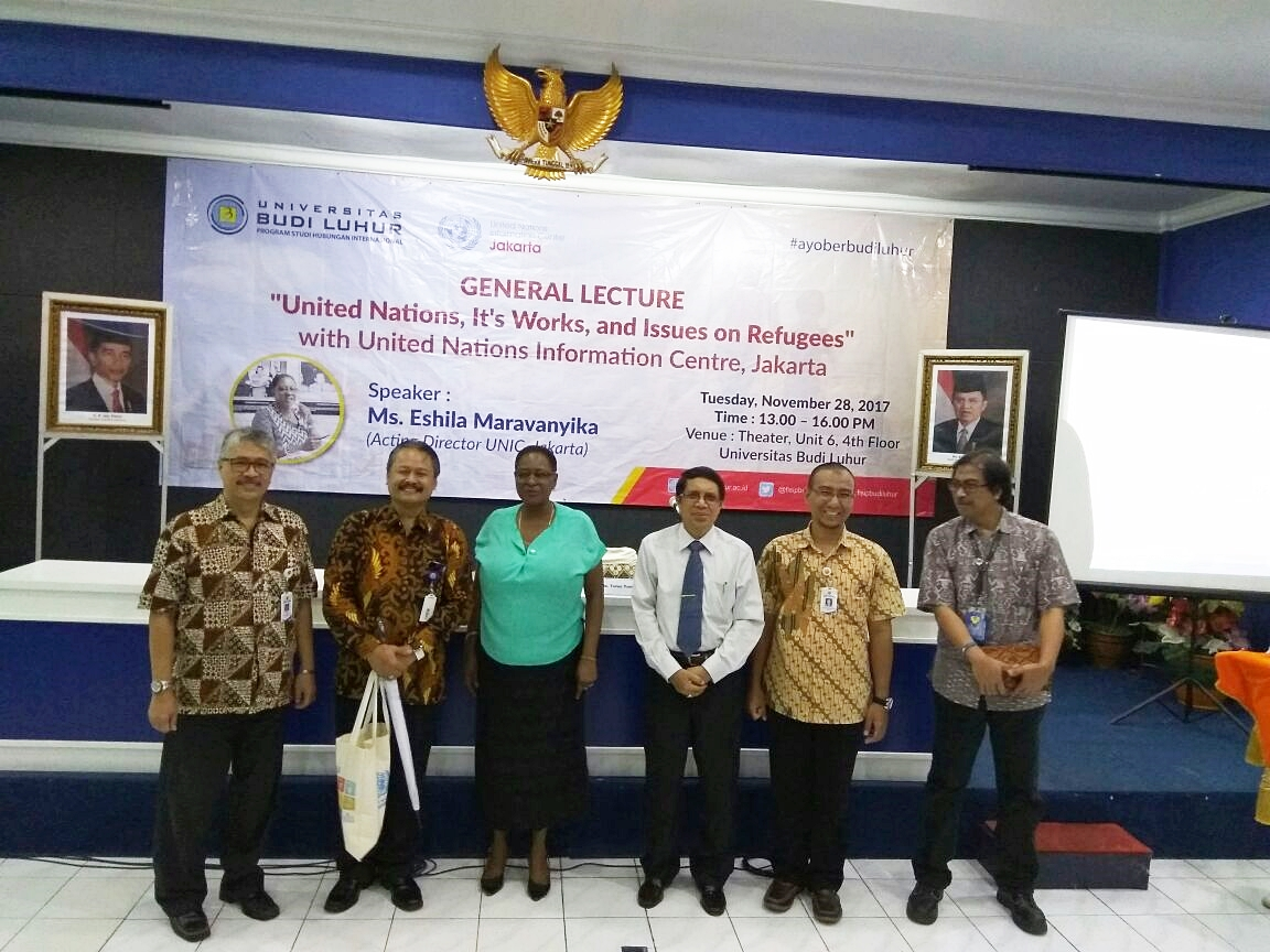 "[:ID]General Lecture dari Direktur UNIC, Jakarta ""United Nations, It's Works, and Issues on Refugees"" (28/11/17)[:]"