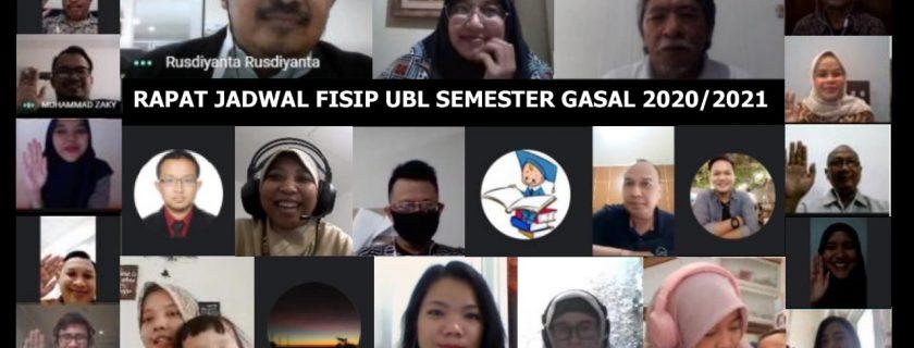 Rapat Jadwal FISIP Semester Gasal Tahun Ajaran 2020/2021