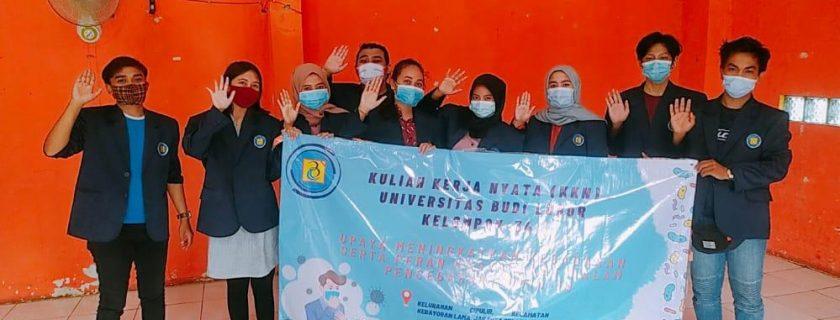 Mahasiswa Prodi Kriminologi Berikan Sosialisasi Pencegahan COVID-19 di Cipulir, Jakarta Selatan