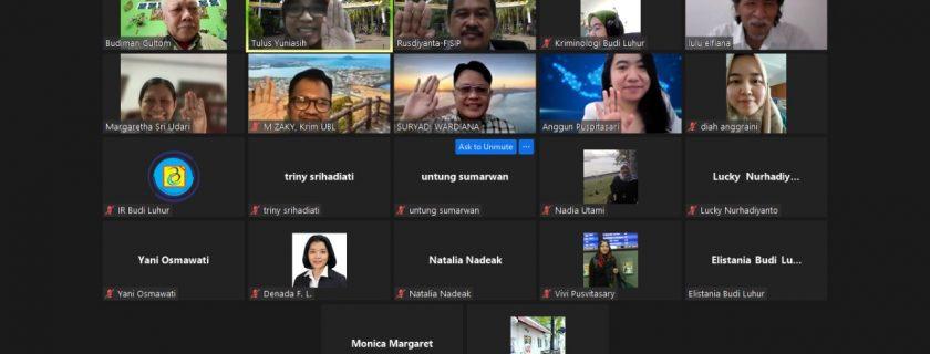 Pelaksanaan kegiatan Pelatihan Web Dosen dan E-learning sekaligus peresmian logo FISIP Universitas Budi Luhur.