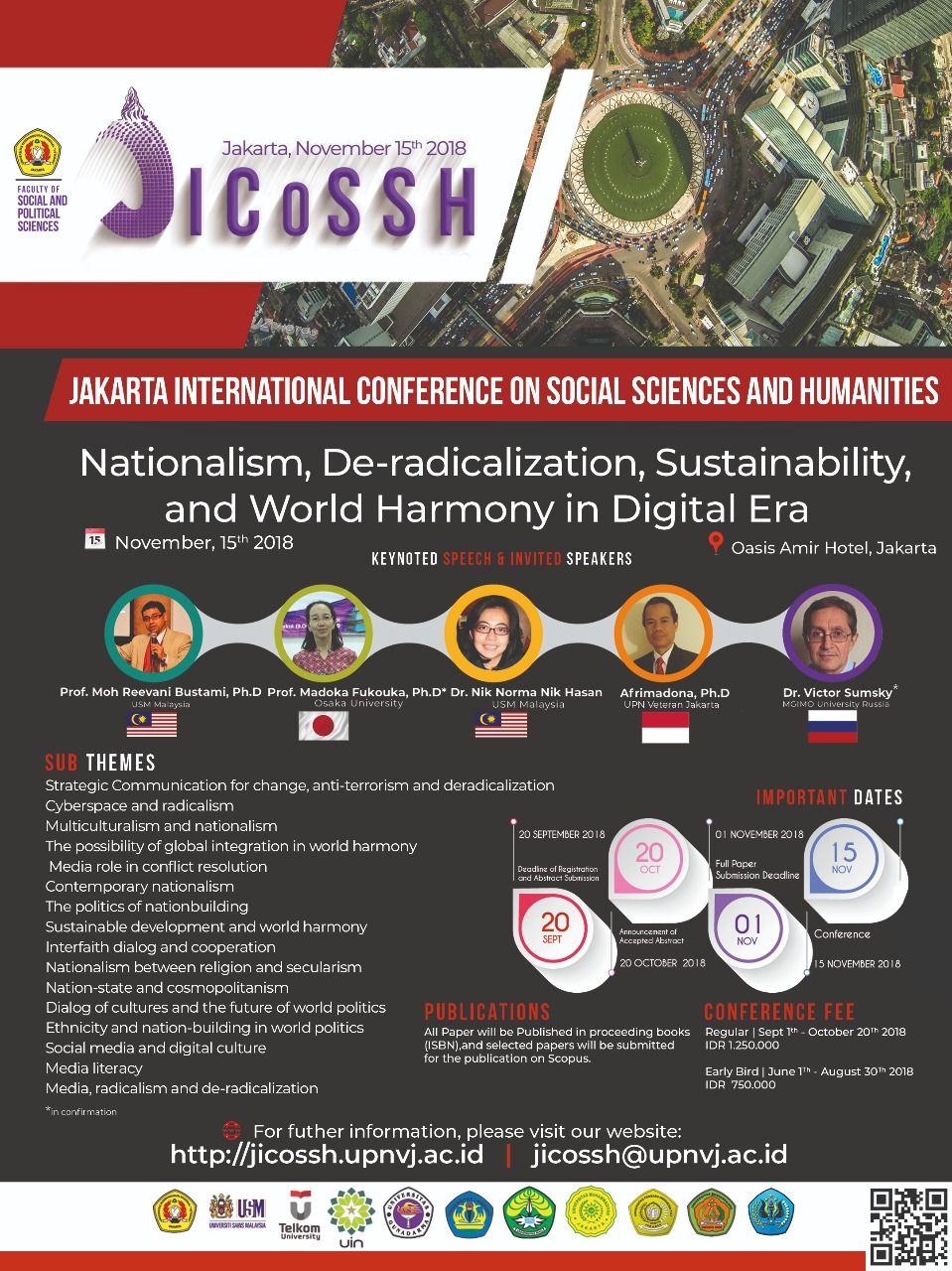 "Jakarta International Conference on Social Sciences and Humanities yang bertema ""Nationalism, De-radicalization, Sustainability, and World Harmony in Digital Era"""
